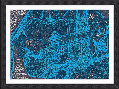 Acoustic Blue Guitar
