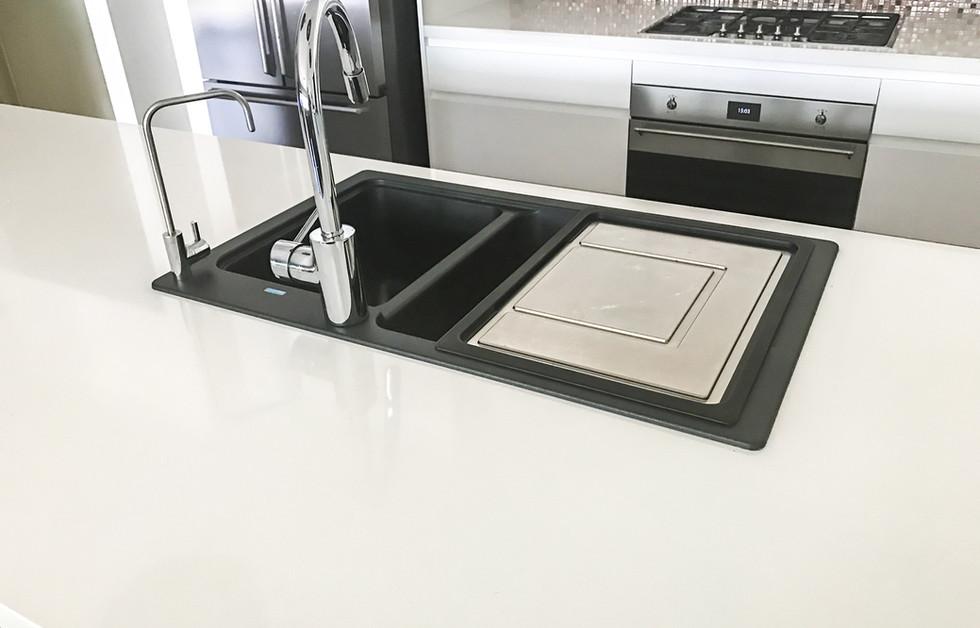 Ceramic drop-in sink