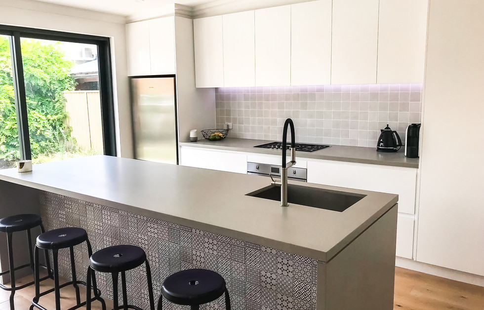 Contemporary Kitchen with Island