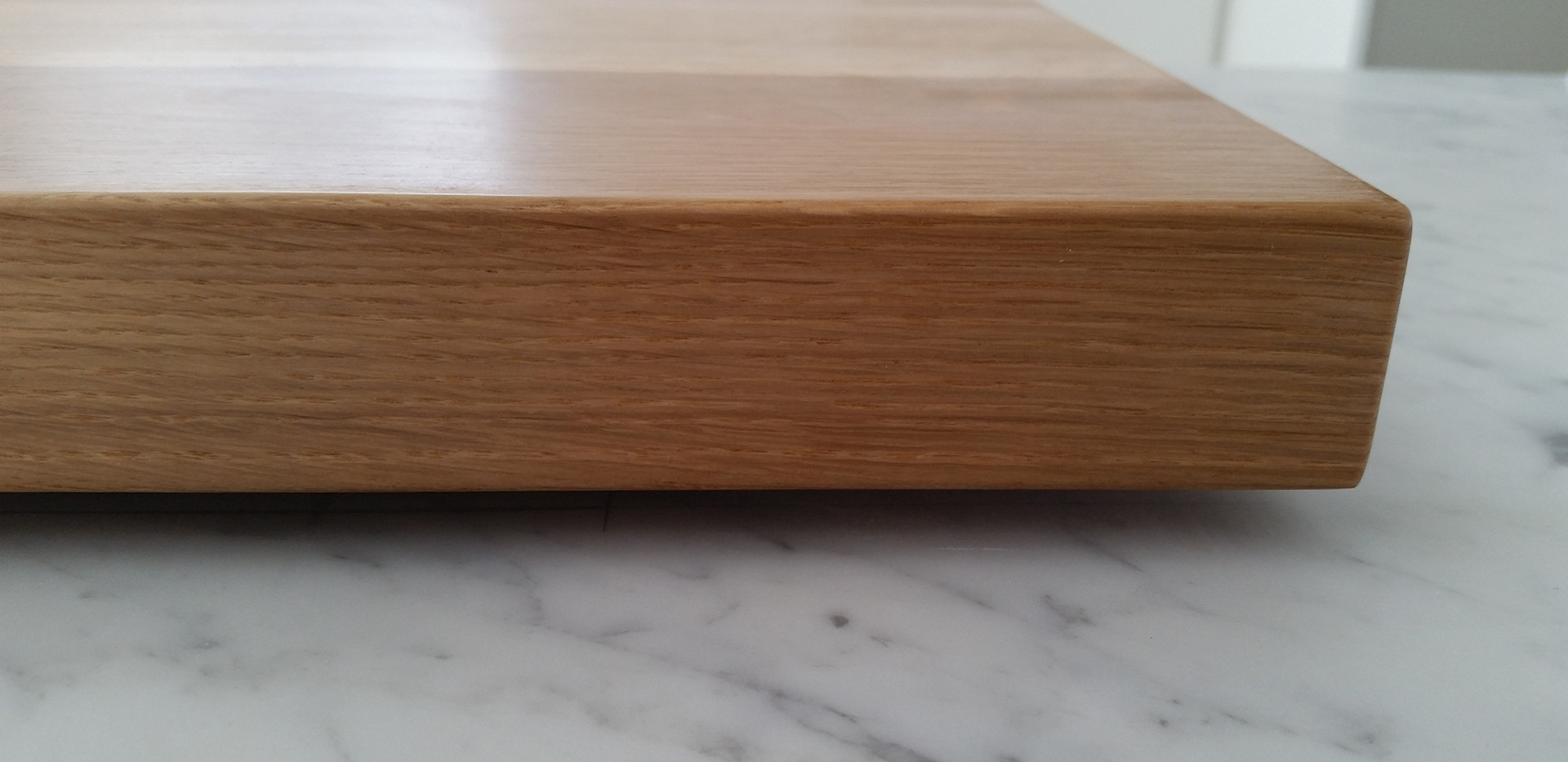 Stone and wood benchtop joint