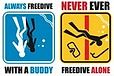 never freedive alone