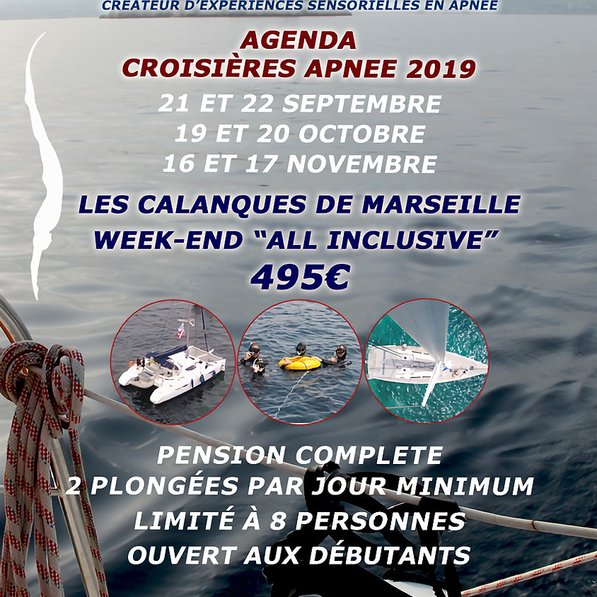 Croisière apnée du 16 et 17 Novembre 2019 à Marseille