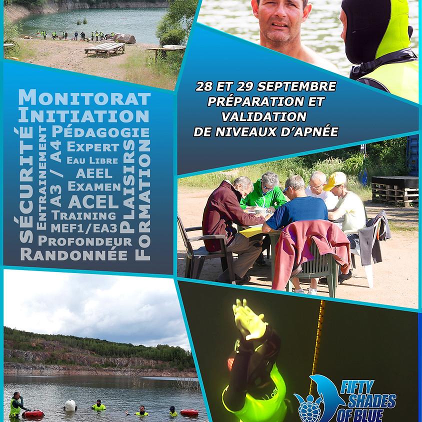 Apnée à la Roche en Brenil les 28 - 29 Septembre