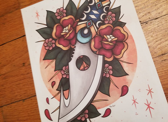 Knife Giclée Print