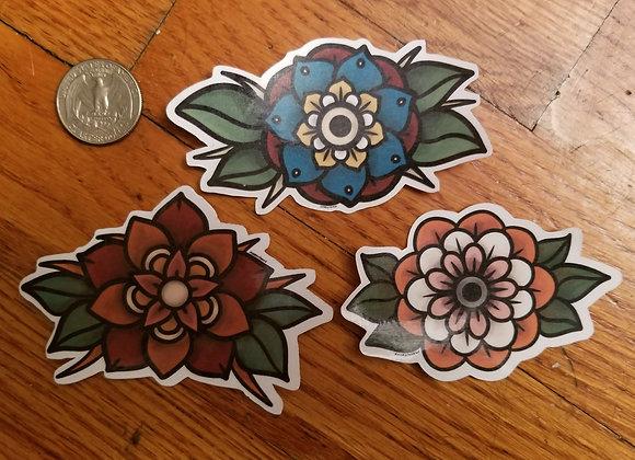 Flower Sticker Set, 3 parts