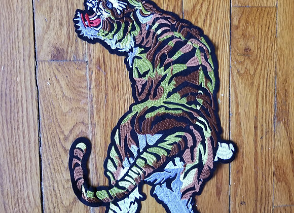 Large Iron on Tiger Patch