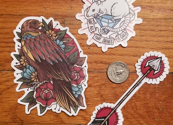 Traditional Sticker Set