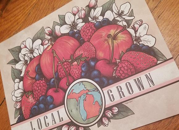 Local Grown: Michigan, Giclée Print