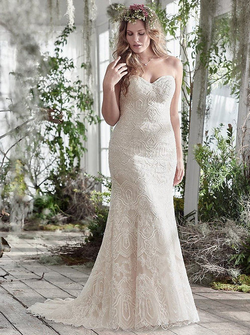 FREDRICKA BY MAGGIE SOTTERO WEDDING DRESS/ SIZE8