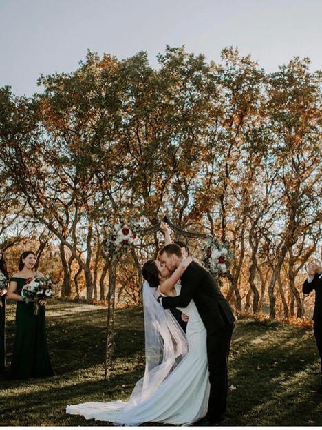 Gina's wedding in Wilderly gown