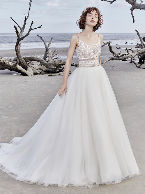 SAYLOR BY SOTTERO MIDGLEY WEDDING DRESS/ SIZE10