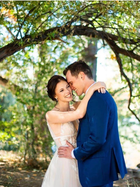Lindsey's wedding in Willowby Gown