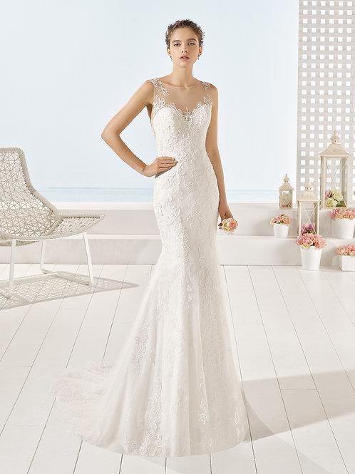 YANTAR BY LUNA NOVIAS WEDDING DRESS/ SIZE12