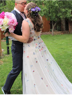 Caitlin's wedding in Willowby Gown