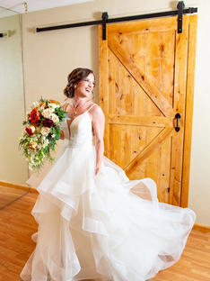 Margot's Wedding in Maggie Sottero Gown