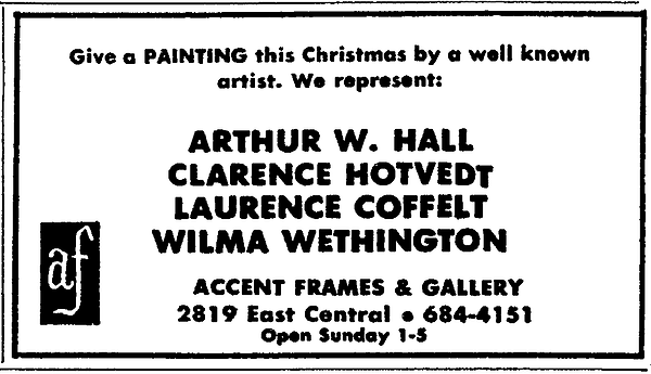Hotvedt art ad in wichita eagle and beac