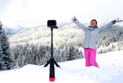 Nu Grip Tripod Extended in the snow