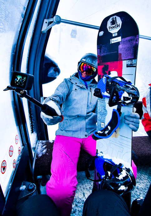 Nu Grip - Selfie in the Ski lift with your GoPro