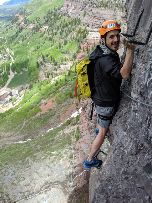 Rockclimbing with Nu Grip