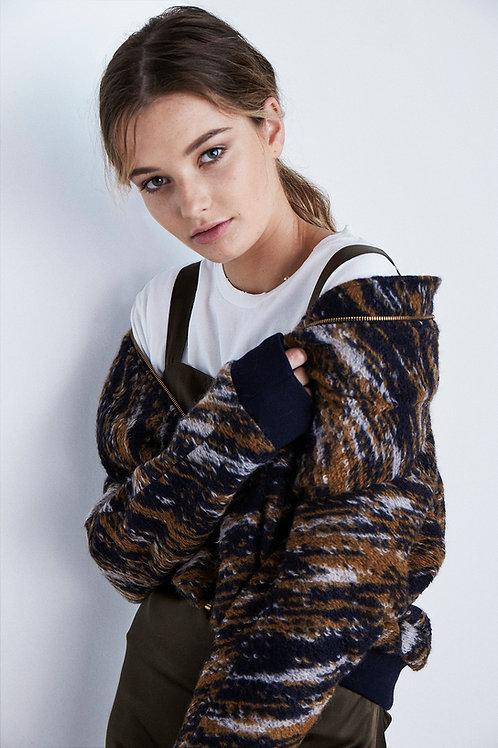 Woolly Pattern Bomber Jacket