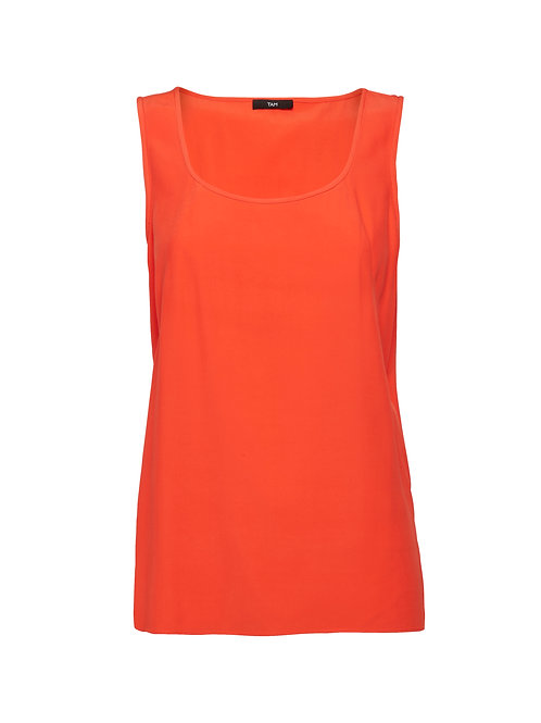 Seam Detail Top Poppy Orange