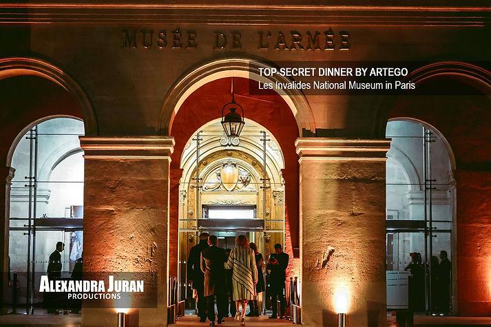 ALEXANDRA JURAN ARTEGO PARIS MUSEUM DINNER