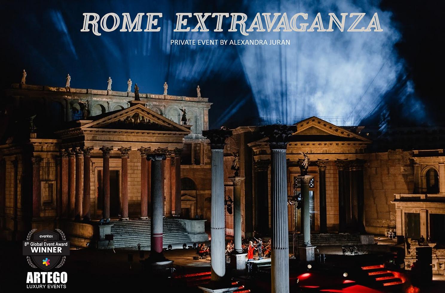 ROME GALA ALEXANDRA JURAN ARTEGO LUXURY EVENT