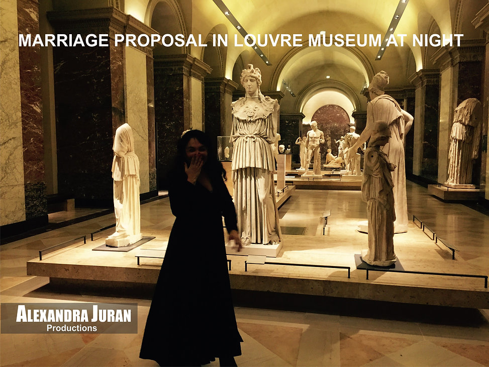 ALEXANDRA JURAN ARTEGO PARIS MARRIGE PROPOSAL LOUVRE