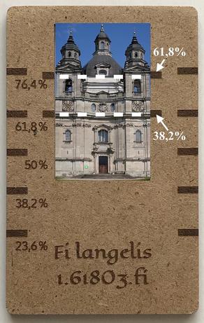 """FI LANGELIS"": aukso pjūvis arba Dieviškoji proporcija"