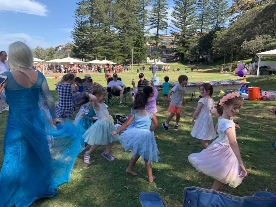 Elsa Dancing with Kids at a Princess Party