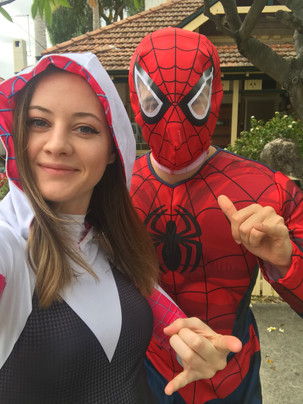 Spider Woman and Spider Man