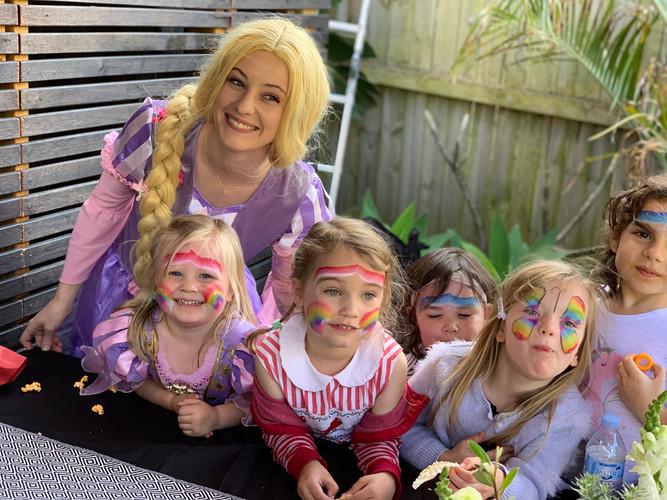 Rapunzel Kids Bithday Party