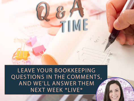 FREE Q&A With Book-Keeper Victoria!