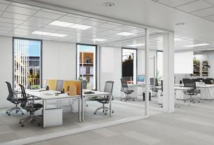 Projet ARTHUR LOYD & ARTE PARC - Perspective intérieure secteur tertiaire