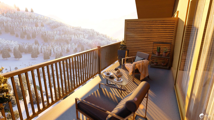 GILLES TRIGNAT RÉSIDENCE - Perspective balcon
