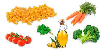 Ingrédients pâtes aux légumes