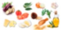 Ingrédients aubergines à la parmigiana