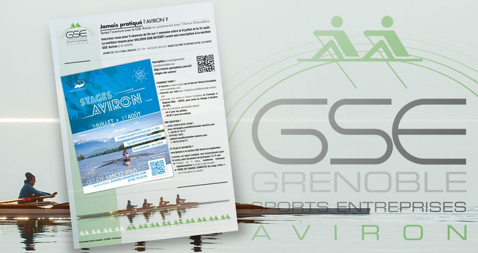 Affiche GSE section Aviron