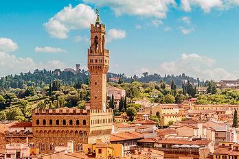 """L'hôtel de ville, """"Palazzo Vecchio"""", de Florence"""