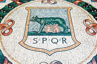 Mosaique louve Victor-Emmanuel II