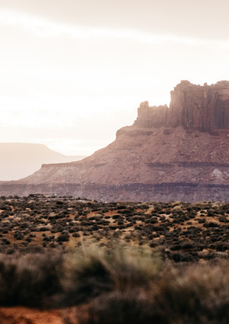 Canyonlands, cold, sun.