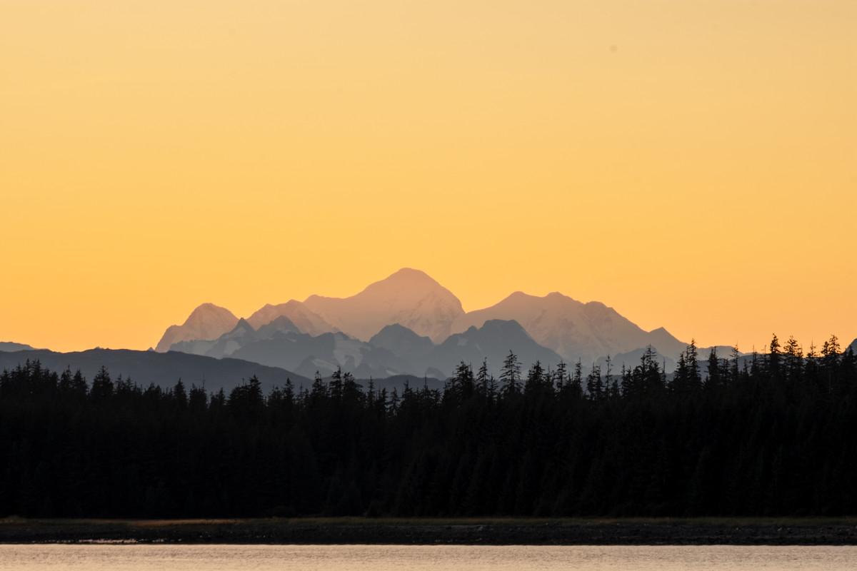 Sunset over Glacier Bay