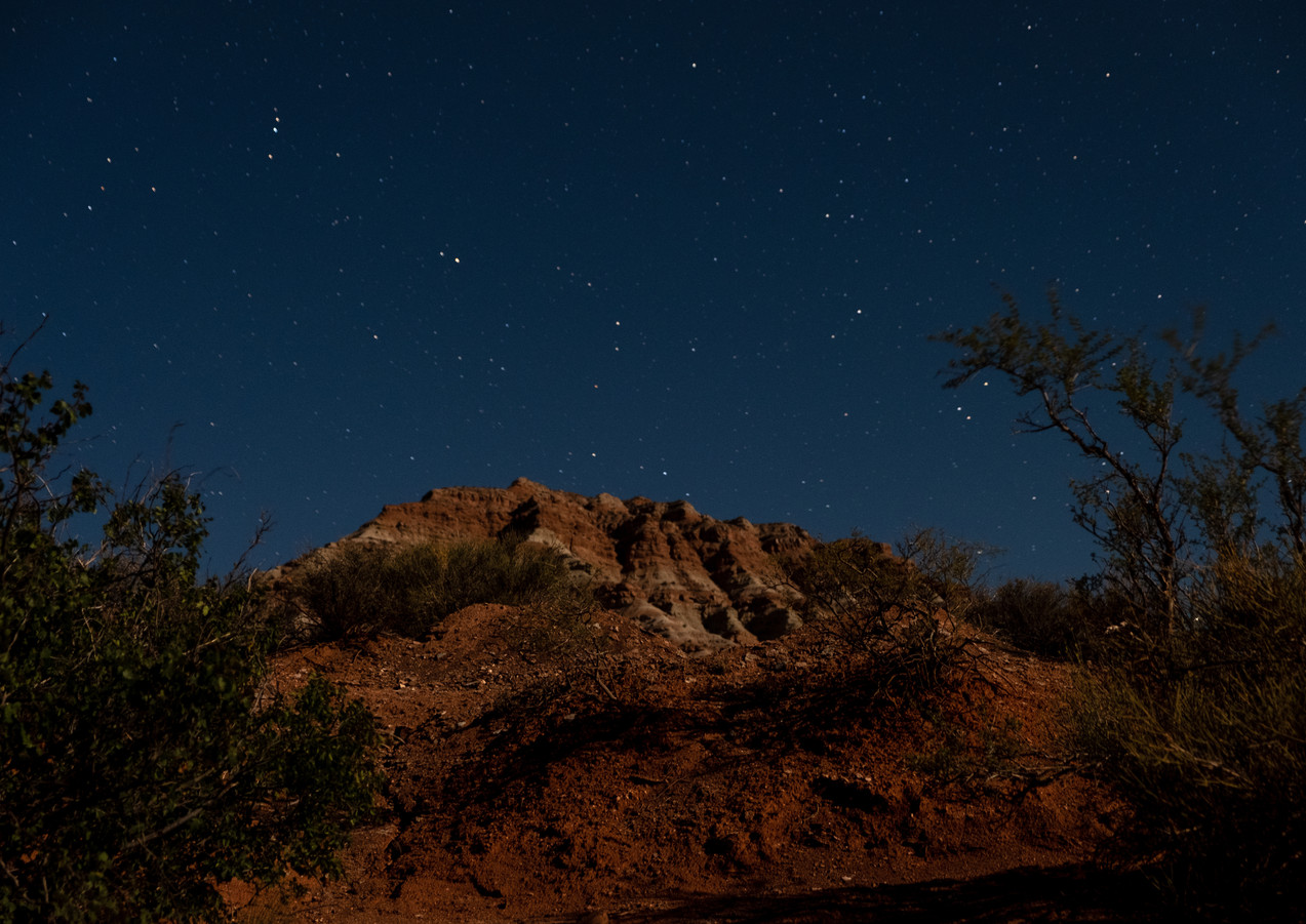 Stars over the desert.