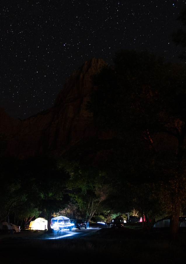 Zion Campground, at Night.