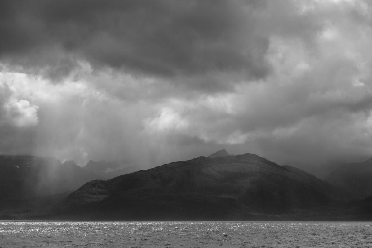 Rain over Chatham Strait.