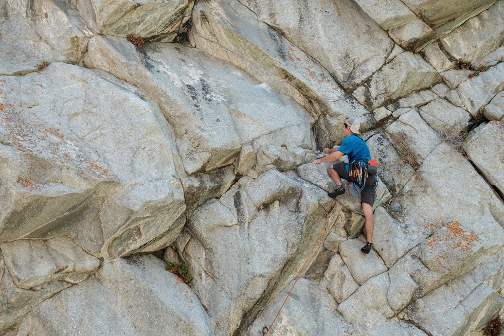 """Dan on LCC Classic """"Cool your Jets"""" 5.12a"""