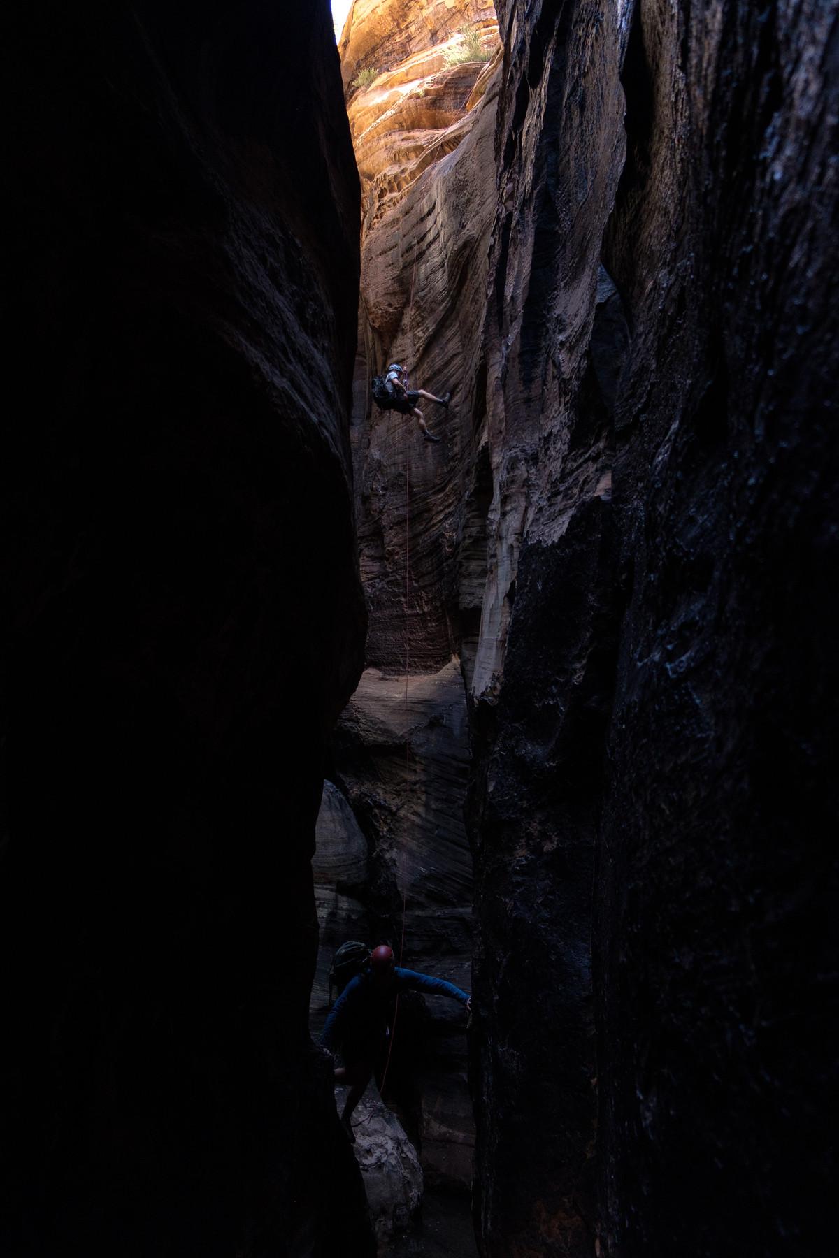 Descent into Boundary Canyon