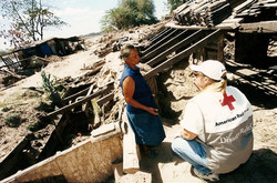 Homes buried by the Choluteca River