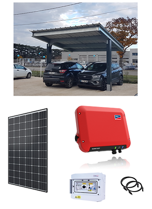 Carport 2 places - 3 kW