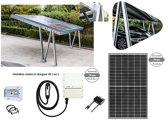 Carport 2 places avec Recharge VE